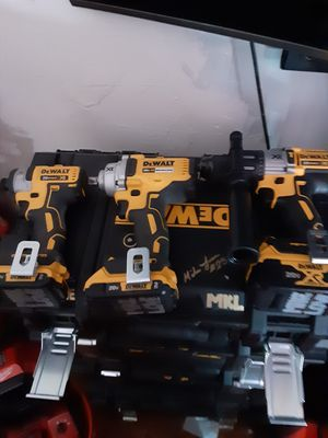Dewalt drills all with batteries and fast charger and dewalt tool bag for Sale in Peabody, MA