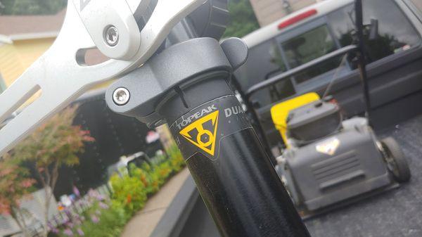 Top peak dual touch bike stand rack storage