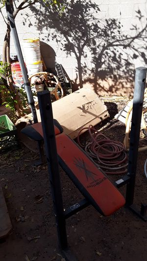 Weight Bench with full set of weights for Sale in Mesa, AZ