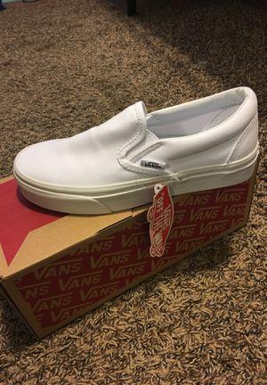 White slip on vans size 5 for Sale in Mankato, MN