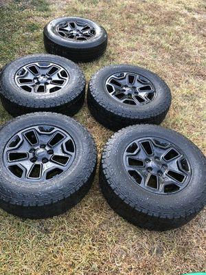 "5 wheels 17"" lugs 5x127 tires 50% jeep, buick, cadillac, chevrolet, chrysler, daewoo, dodge, fiat, ford, gac fiat, gmc, hindustan, lancia, lincoln, for Sale in Arlington, TX"