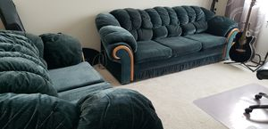 2 Green Velvet Couches for Sale in Tulalip, WA