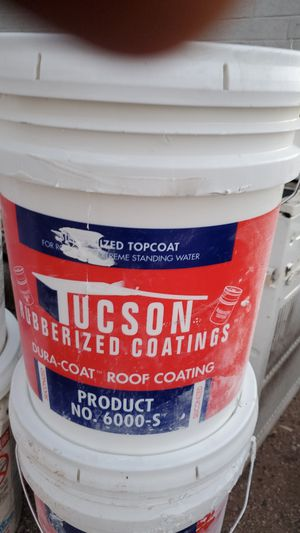 Roof coating 5gal $35 each for Sale in Tucson, AZ