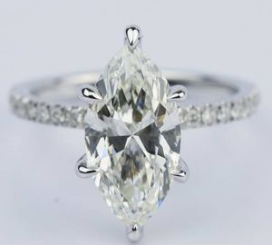 Platinum Filled Marquise Cut VVS1 LAB DIAMOND Engagement Wedding Ring Size 8,9,10 for Sale in Wheaton-Glenmont, MD