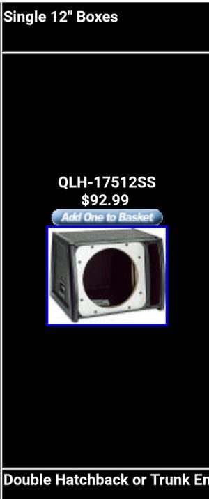 Q logistic single 12 inch subwoofer ported box with the seal ring for Sale in La Vergne, TN