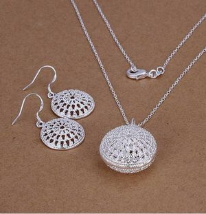 925 Sterling Silver Solid Silver Fashion Round Jewelry Set for Sale in Orlando, FL