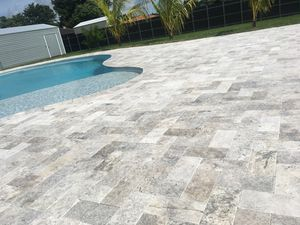 6*12 Silver Travertine Pavers for Sale in Miami, FL