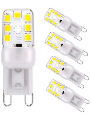 G9 Led Bulb Dimmable Led Chandelier Light Bulbs 2W/20W Halogen Bulbs Replacement Daylight White 6000K G9 Base 120volt Bi Pin Led Bulbs G9 LED Lights for Sale in San Francisco, CA