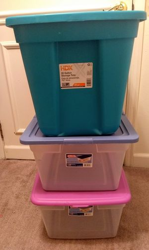 3 x STORAGE CONTAINERS / TOTES for Sale in Auburn, WA