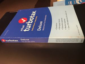 Used (1 install left)-Turbo tax 2016 for PC or MAC. Mint condition-Deluxe for Sale in DeSoto, TX