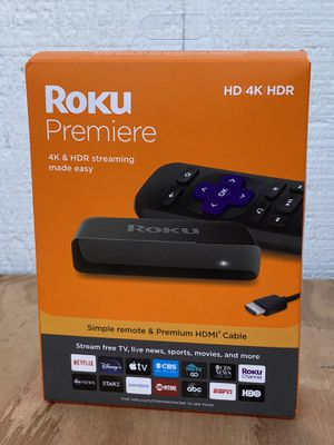 Roku Premiere 3920R 4K HDR 60fps Streaming Player, Black NEW! for Sale in Hayward, CA