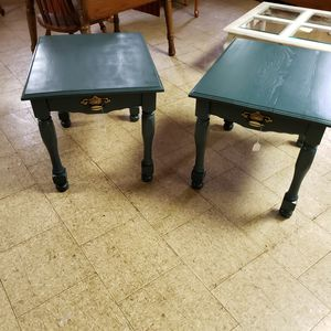 Antique green end tables. for Sale in Marietta, SC