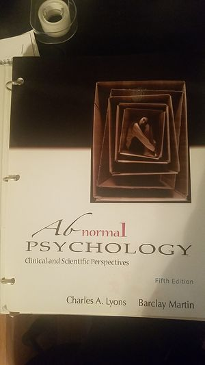 Abnormal Psychology Fifth Edition for Sale in Apex, NC
