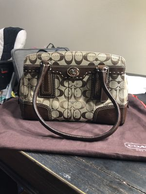 Brown Coach Big C signature bag for Sale in Temple City, CA