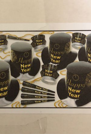 New Year's Eve Party Kit 4 for 50 people each for Sale in Costa Mesa, CA