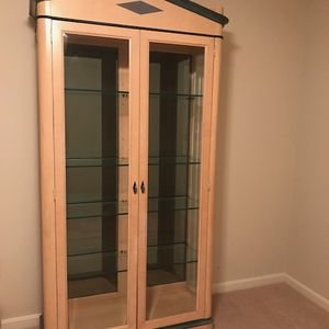 Curio With Glass Front And Shelves for Sale in Vienna, VA