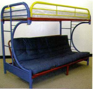 TWIN METAL BUNK BED WITH FUTON/SOFA NEW for Sale in Austin, TX