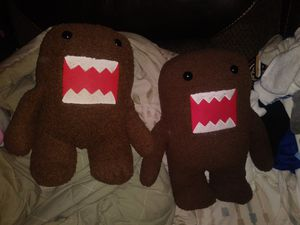Large plush Domo toys for Sale in Roseville, CA