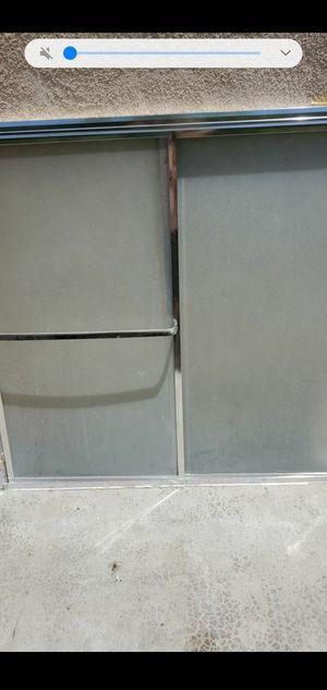 Great chrome shower doors 56x56 for Sale in San Bernardino, CA