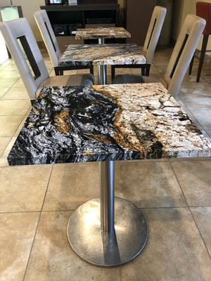 Granite tables w stainless steel base for Sale in Seattle, WA