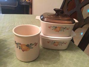 Corning Ware casserole set and utensil holder MINT for Sale in Miami, FL