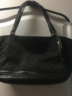 Authentic Coach Black Purse for Sale in Holly Springs,  NC