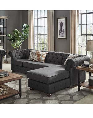 Gray Upholstered Sectional for Sale in Chevy Chase, MD