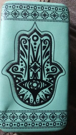 Hasma hand teal/indgo ladies wallet for Sale in St. Louis, MO