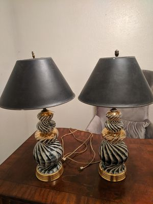 Pair antique lamps for Sale in Austin, TX