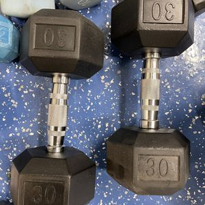 30lbs Unmarked Dumbbells Purchased From Rogue for Sale in Fontana, CA