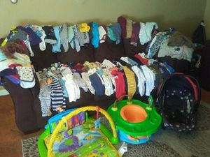 Baby boys essentials...clothes size newborn-12months for Sale in Brookneal, VA
