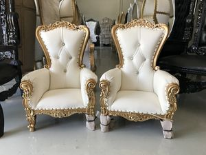 Free nationwide delivery | kids throne chairs king queen princess royal baroque wedding event party photography event party photography hotel lounge for Sale in Chicago, IL