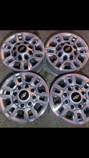2019 - 2020 New Chevy / GMC Factory Rims ! 8 Lug Original Wheels Chevrolet Sierra Rines y llantas 2017 GMC 2016 Sierra 2015 Chevrolet 2014 Silverado for Sale in Dallas, TX
