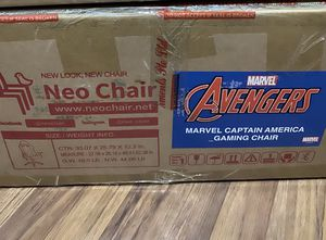 Marvel avengers Captain America gaming chair still not open for Sale in Joliet, IL