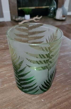 Vase plant clear and frosted design candle holder for Sale in Westlake, OH