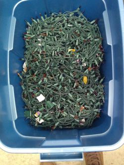 Box Of Christmas Lights for Sale in Harvey,  IL