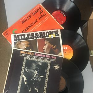 Miles Davis At Carnegie Hall, Birth Of The Cool, Miles And Monk At Newport -LP Bundle for Sale in Miami, FL