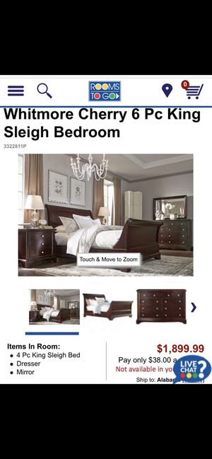 Sleighbed furniture KING set for Sale in Birmingham, AL