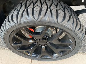 OE Performance 169 26x10 31mm 6x5.5 Black with 4- 35x13.5xR26 pioneer MT tires for Sale in Parachute, CO