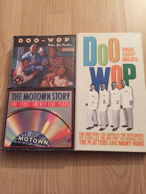 Doo wop oldies Motown story cd box sets for Sale in Hollywood, FL