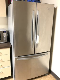 Whirlpool stainless steel refridgerator with French doors for Sale in Tigard,  OR