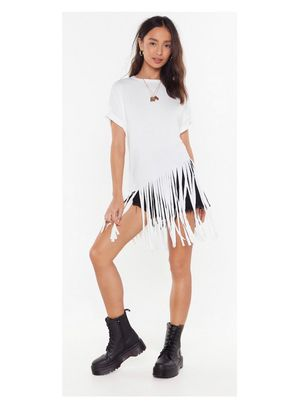 Fringed Oversized Tee for Sale in Delray Beach, FL