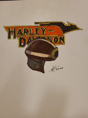 1950s Harley-Davidson logo and Helmet for Sale in Gilmer, TX