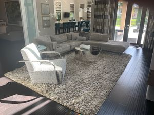 Sklar family room rug chair coffee table and sofa for Sale in Delray Beach, FL