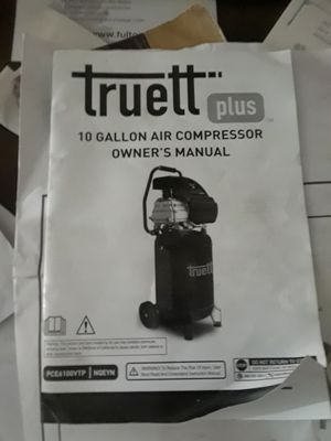 Truett plus 10 gallon vertical air compressor for Sale in Decatur, GA