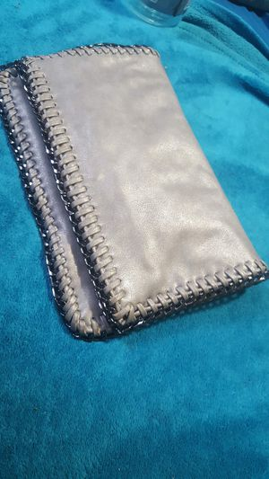 Grey Metallic Clutch with Chain Strap for Sale in Fort Worth, TX