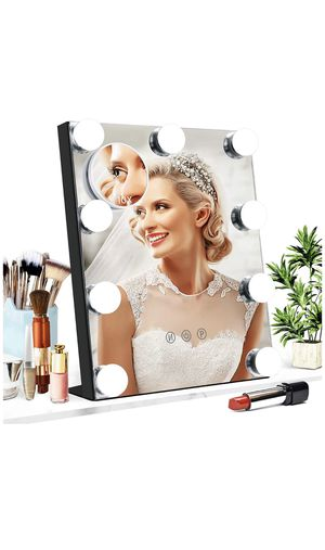 Vanity Mirror with Lights, Baban Hollywood Makeup Mirror with Dimmable LED with Lights 3 Colors Light Detachable 10X Magnification Touch Control 360° for Sale in Montclair, CA