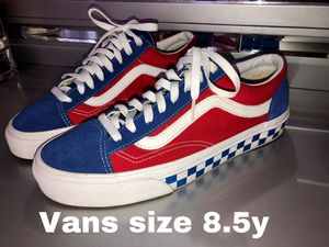 Men Vans size 8.5 worn once for Sale in Miami, FL