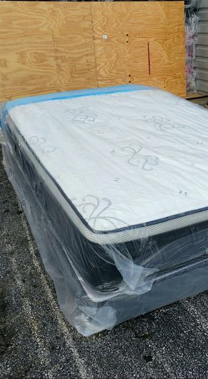 NEW FULL PILLOWTOP MATTRESS AND BOX SPRING SET, bed frame not included on price for Sale in Boynton Beach, FL