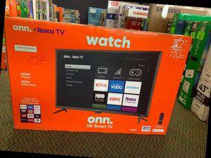 """Brand New ONN HD Smart TV! 32"""" open box w/ warranty KL2V for Sale in Dallas, TX"""